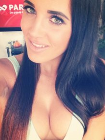 Hot girls with big cleavages