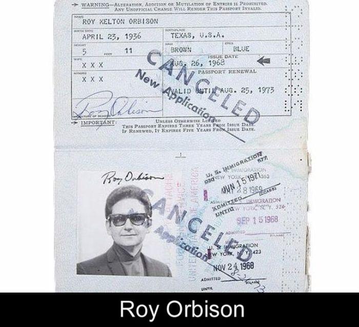 17 Iconic Celebrity Passports