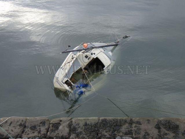 Sunken yachts