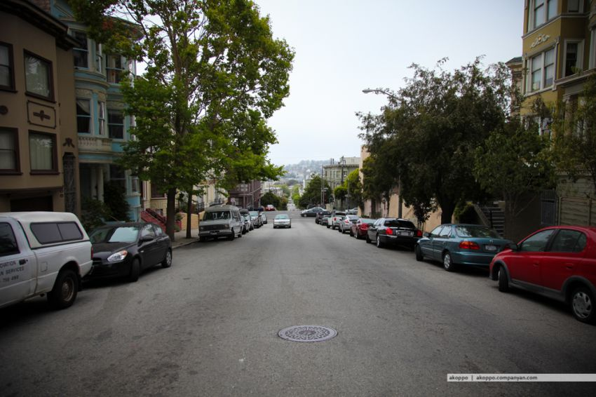 The sloping streets of San Francisco