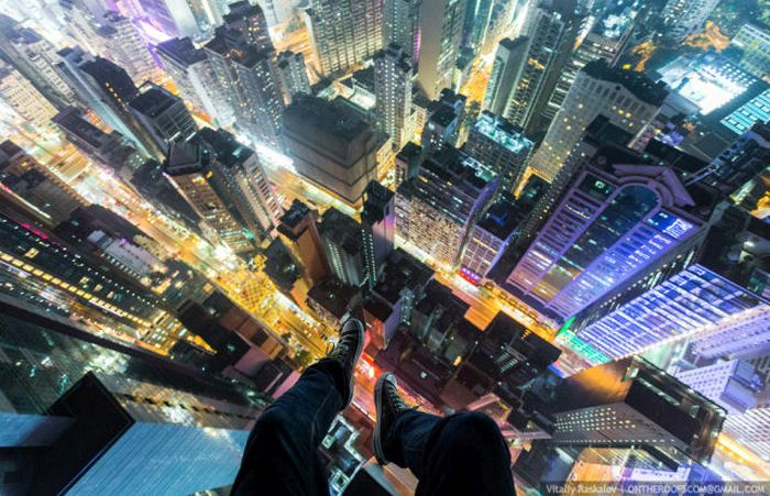 Urban Climbers Take Pictures From High Places