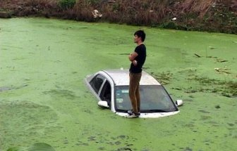 When Your Car Gets Stuck In A Pond