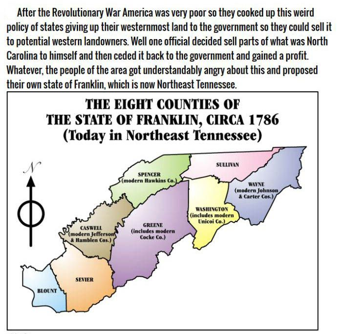 Parts Of America That Wanted To Be Their Own States