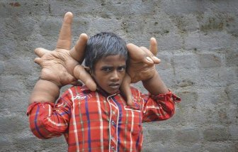 Little Boy With Big Hands