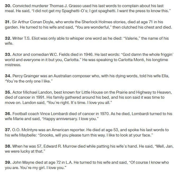 Famous Last Words Spoken By Famous People