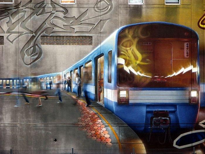 Фото 3d граффити