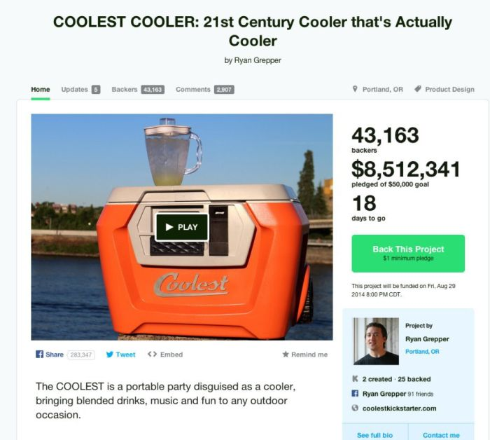 The Craziest Ideas People Had On Kickstarter