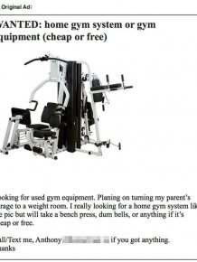Guy Gets Trolled Trying To Buy Gym Equipment