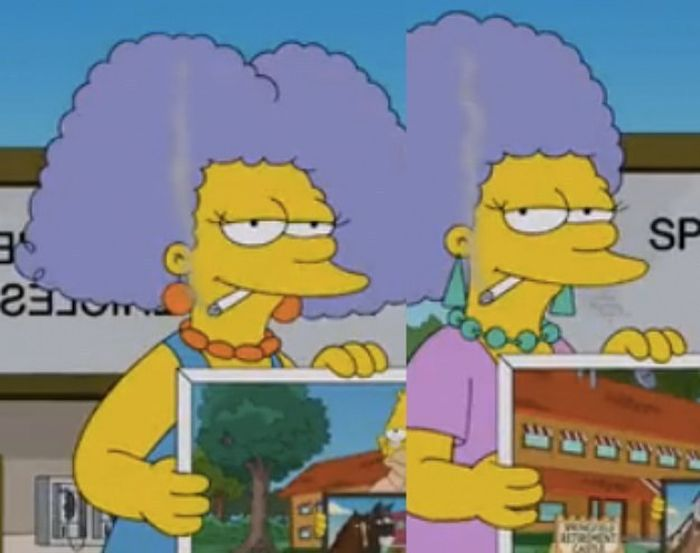 Characters From The Simpsons On The First Episode And Today