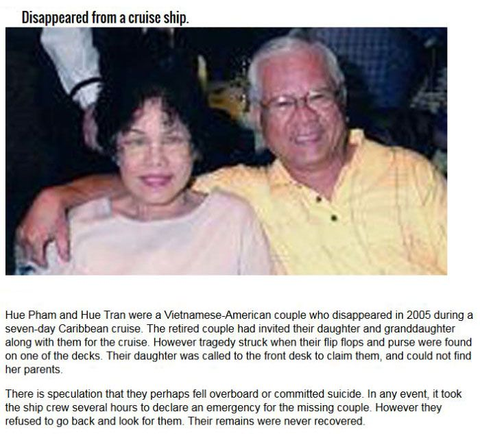 Couples That Mysteriously Disappeared