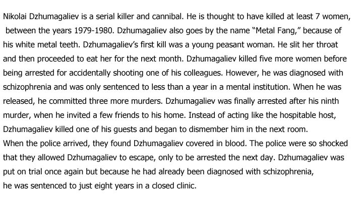 Serial Killers That Were Set Free From Prison