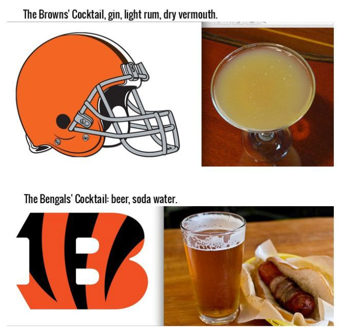 Drinks That Were Inspired By Your Favorite NFL Team