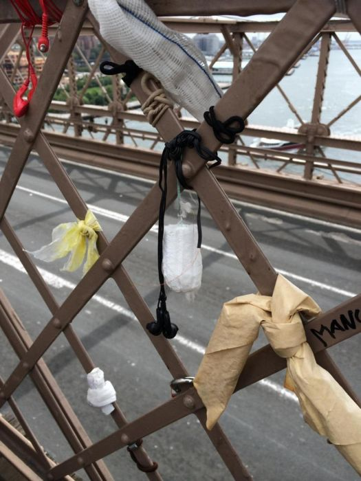 People Are Leaving Something Odd At The Brooklyn Bridge