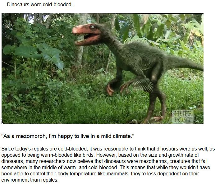 Myths About Dinosaurs Get Mythbusted