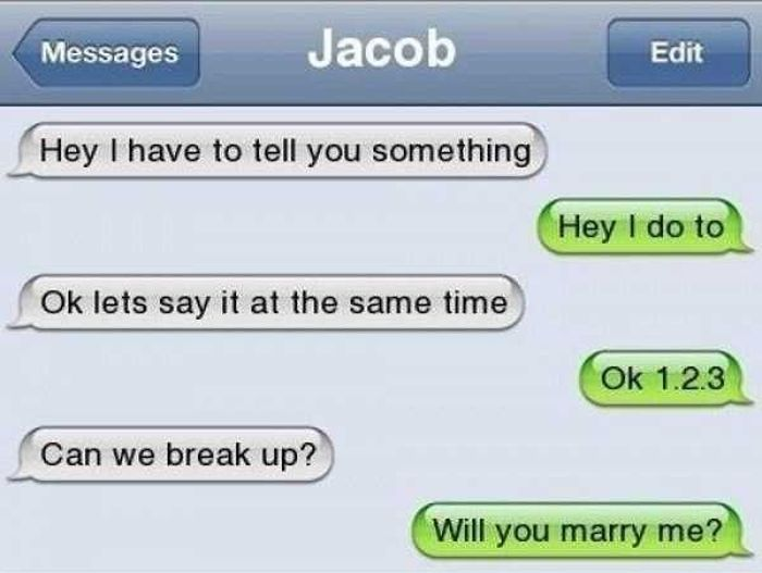Totally Harsh Breakup Texts