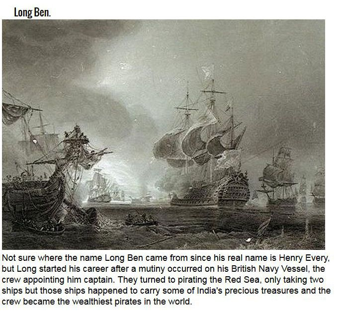 Infamous Pirates That Were Legends Of The Sea
