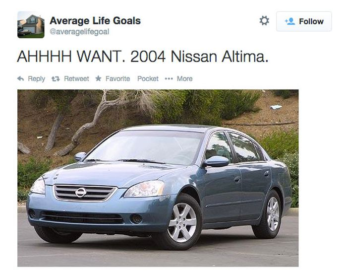 Average Life Goals Is The Twitter Account For Underachievers