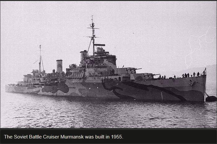 The Wreckage Of The Soviet Battlecruiser Murmansk