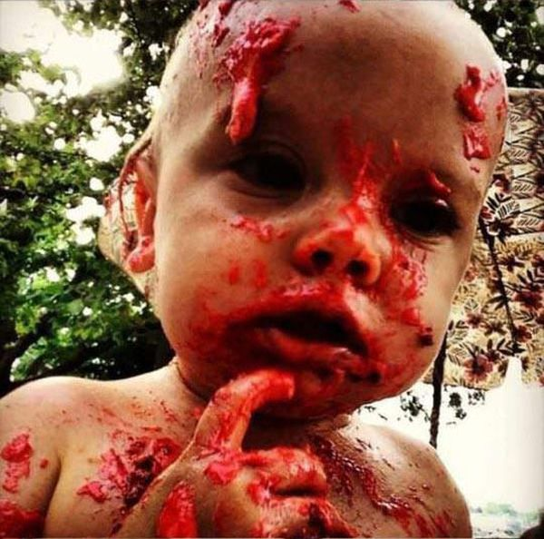 Baby Turns Into A Zombie On Its 1st Birthday