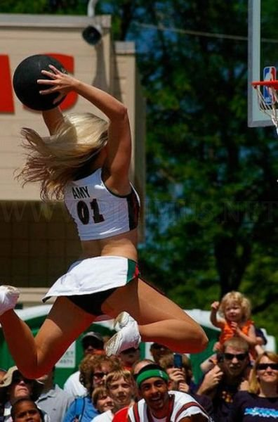 Slam Dunking NBA Girls