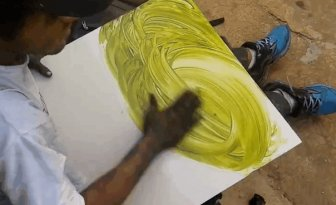 A Fast Finger Painting Masterpiece