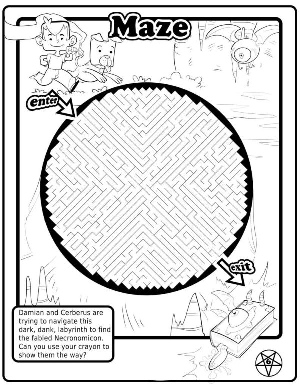 The Satanic Coloring Book Made For Kids