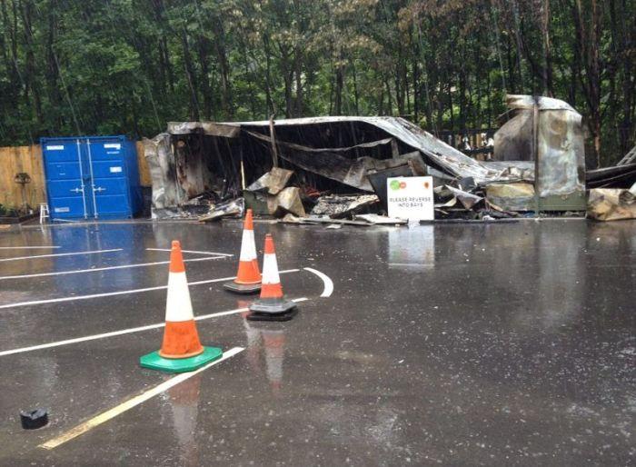Man Destroys Recycling Center