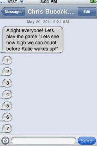 How High Do You Have To Count To Wake Up Katie