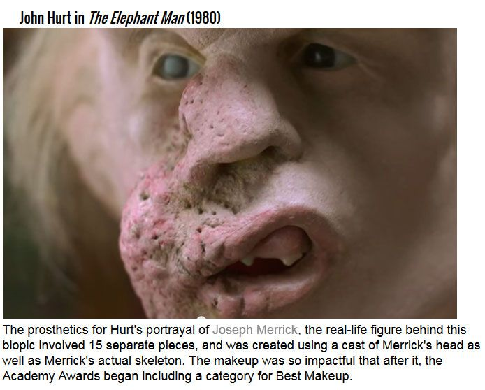 The Most Impressive Movie Makeup Transformations In History