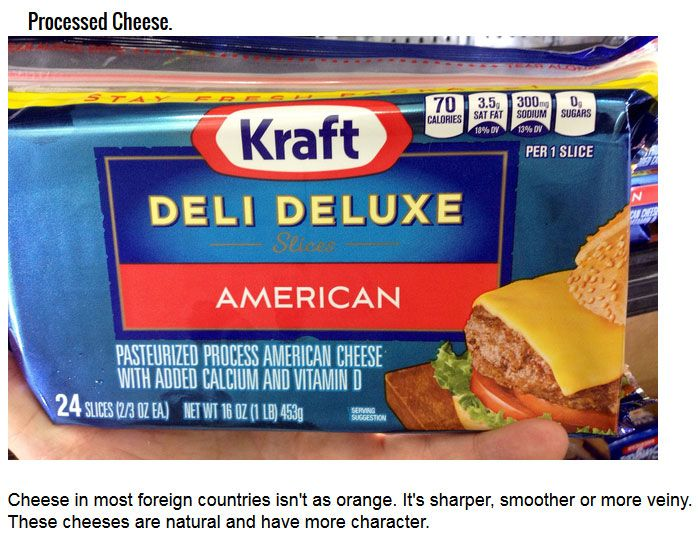 The Difference Between America's Food And The Rest Of The World