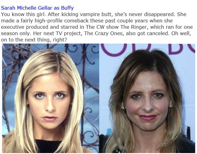 The Cast Of 'Buffy The Vampire Slayerв' Back In The Day And Today