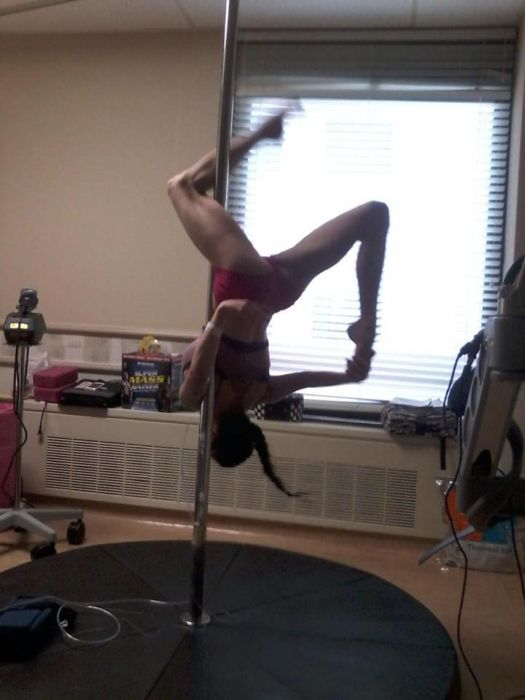 Pole Dancer With 25% Lung Function