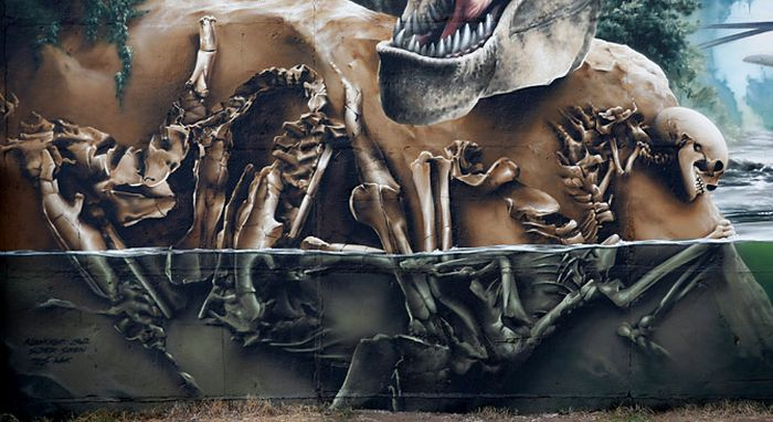 This Jurassic Park Inspired Wall Is A Masterpiece