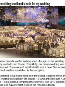 Wedding Reception Looks Like A Living Dream