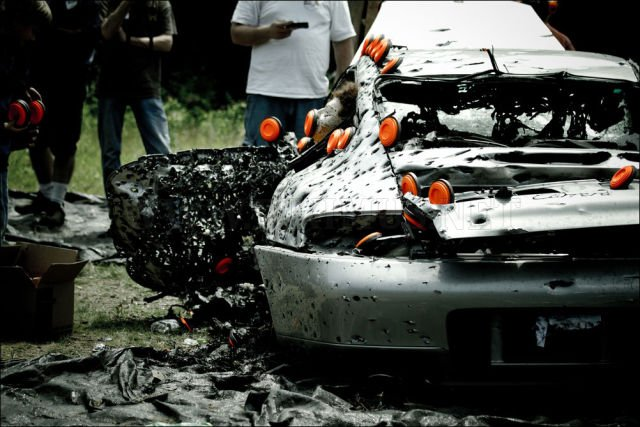 A shot up Porsche 911, part 911
