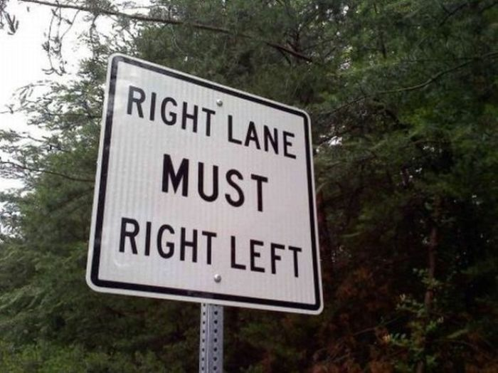 The Only Thing These Signs Do Is Confuse People