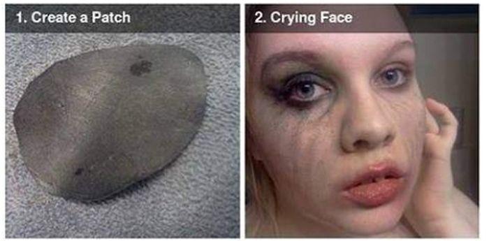 Scary Missing Eye Makeup DIY