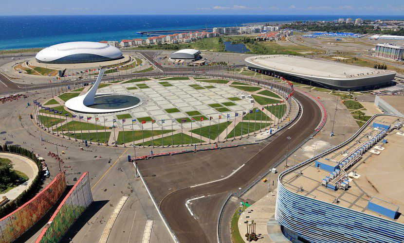 How the Sochi Formula 1 curcuit in Russia was built