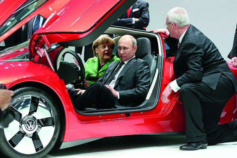 Russian President Vladimir Putin With Cars Celebrities