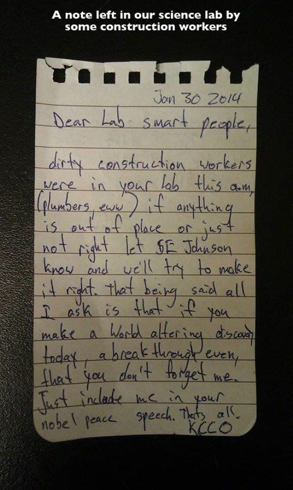 Strange But Hilarious Notes