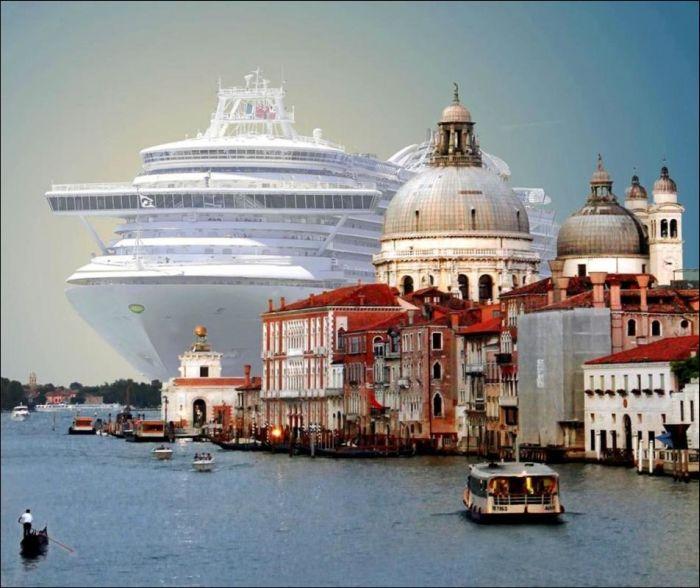 Stunning Cruise Ship In Venice