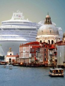 Stunning Cruise Ship In Venice