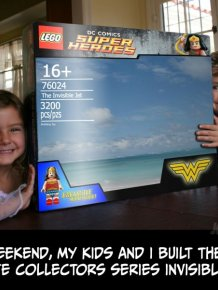 How To Build Wonder Woman's Invisible Jet With Legos