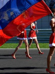 Paddock girls Sochi 2014 Formula 1
