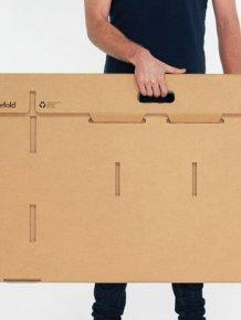 The Cardboard Desk You Can Take Anywhere