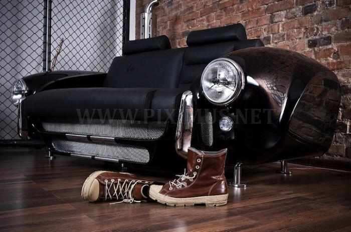 Classic Car Living Room