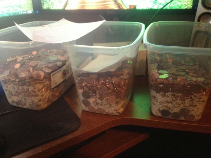 Divorce Settlement Paid In Pennies