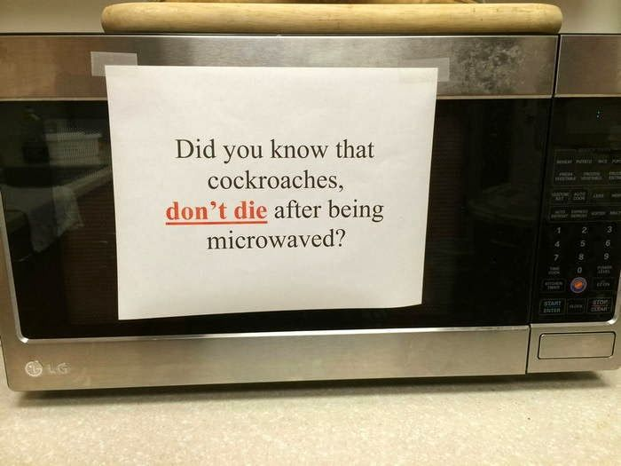 When Using Your Microwave Goes Wrong