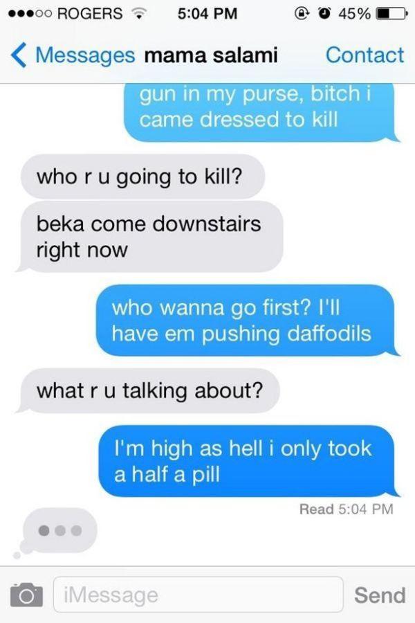 Having A Conversation With Mom Using Only Lyrics From �Anaconda'