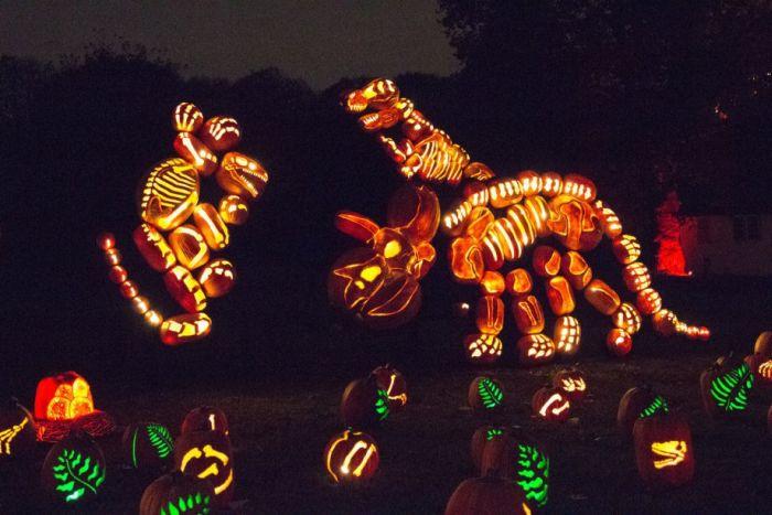 Amazing Display Of 5,000 Carved Pumpkins